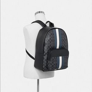 Coach Houston Backpack w/ Varsity Stripe